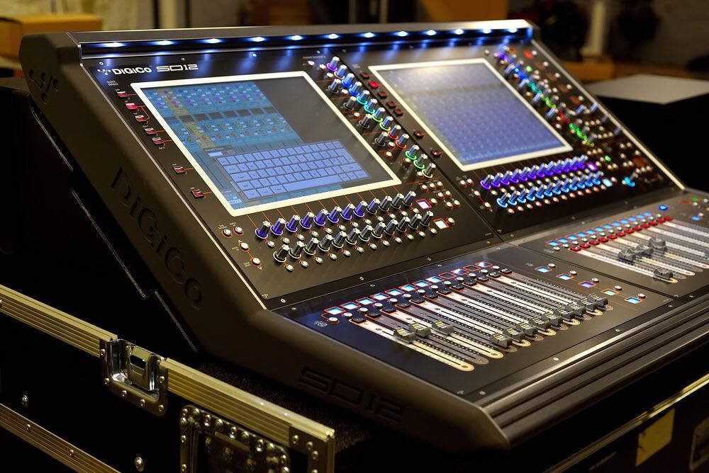 New digital sound console Digico SD12 with D2 Rack is available for rent.