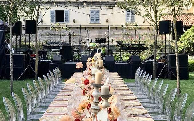 Stage equipment for private party